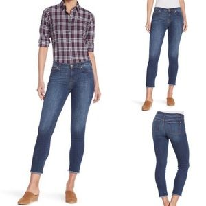 7 For All Mankind Roxanne Ankle Frayed Hem Jeans
